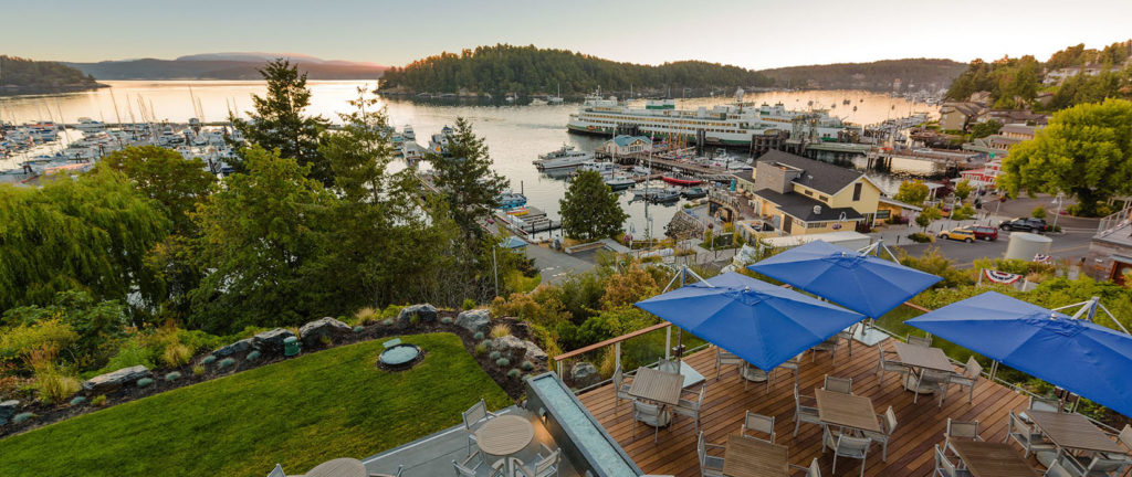 Friday Harbor House deck
