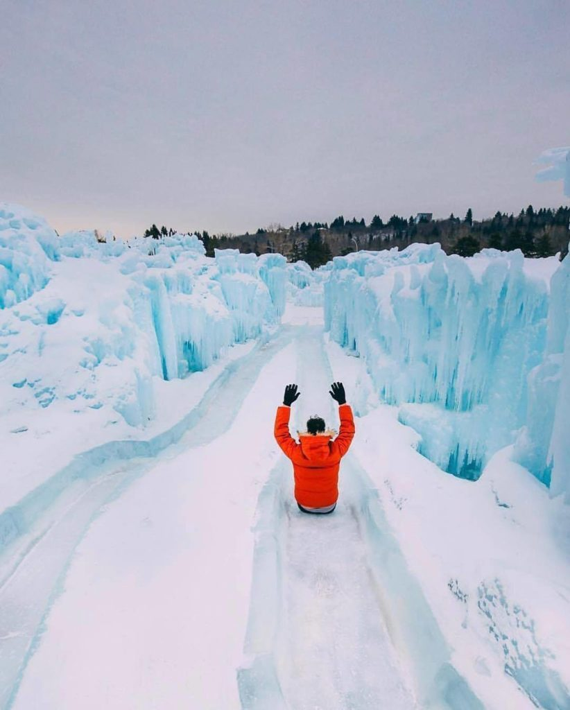 Ice Castles slide