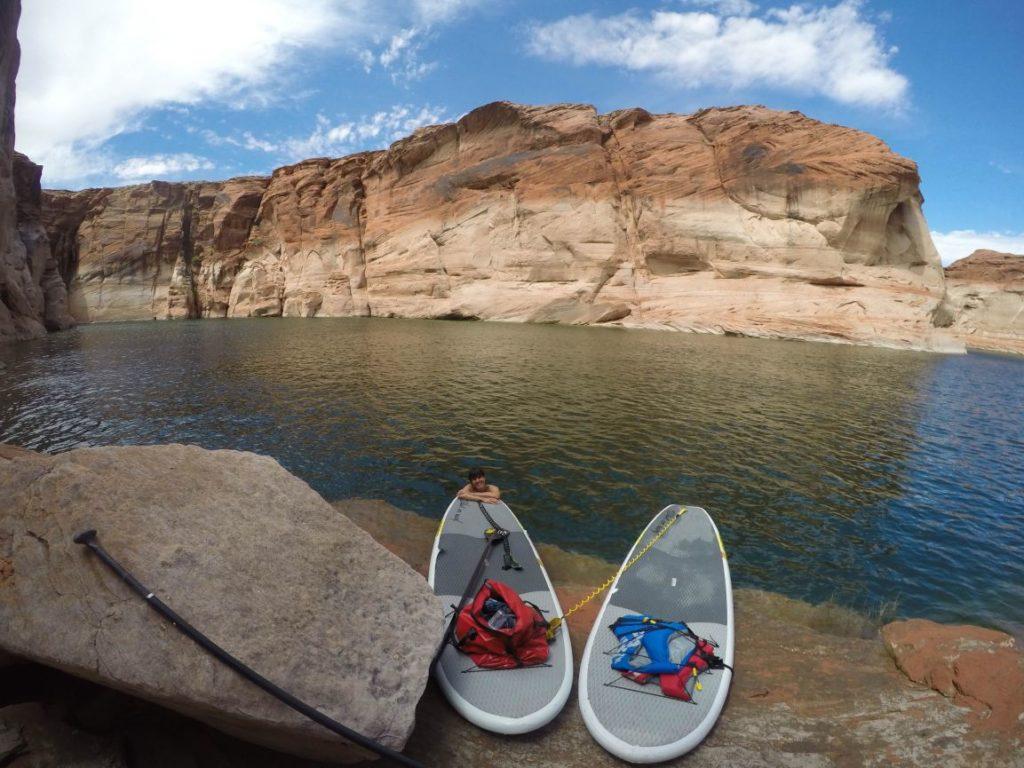 Lake Powell Paddleboards and Kayaks - Taking Break